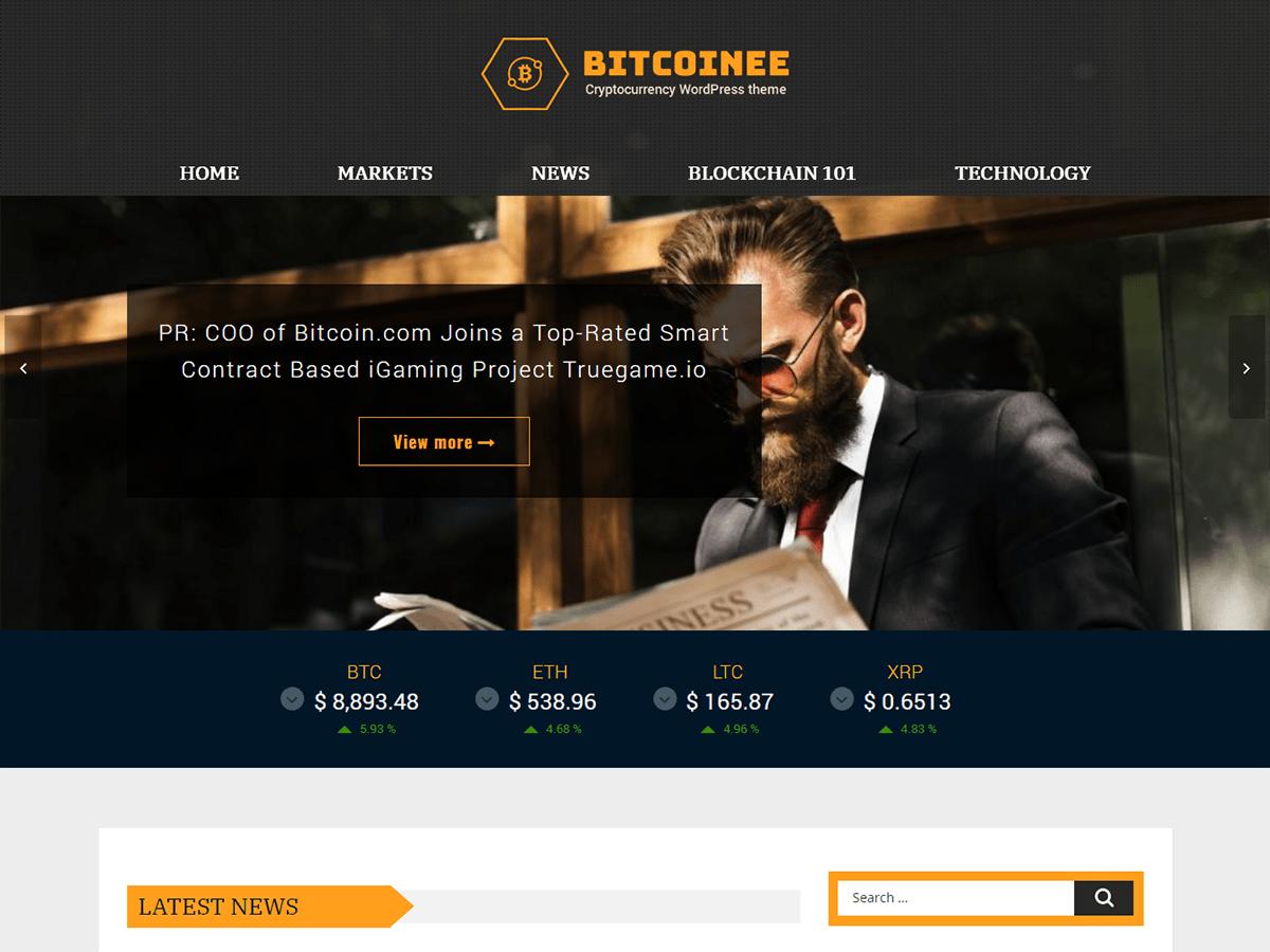Bitcoinee Download Free Wordpress Theme 5