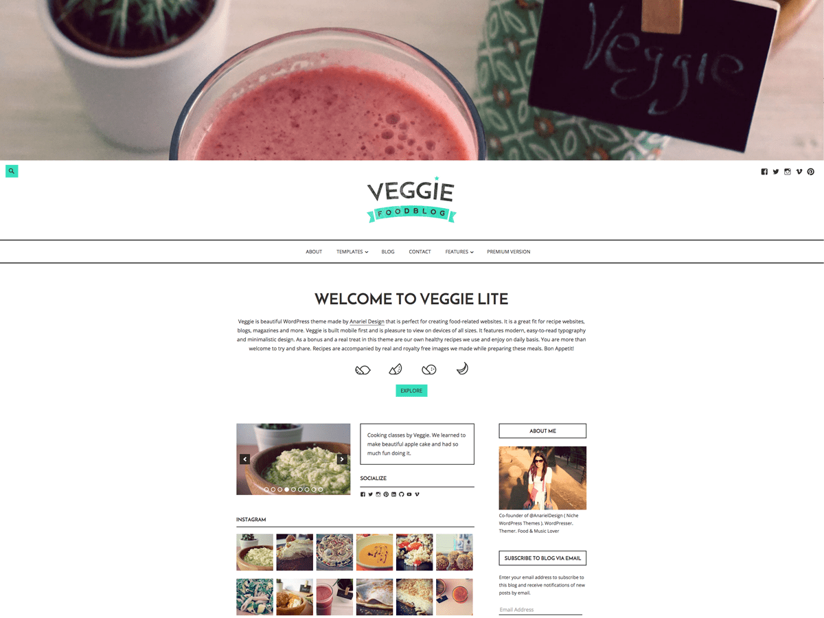 Veggie Lite Download Free Wordpress Theme 2