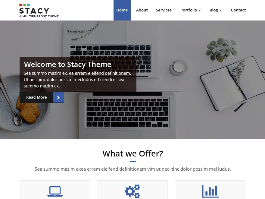 Stacy Download Free Wordpress Theme 2