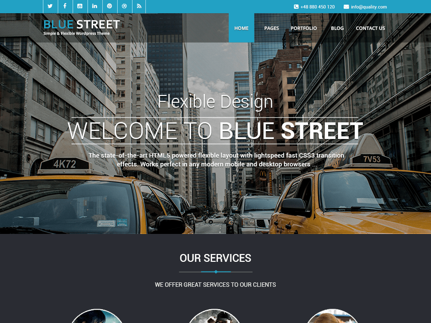 Bluestreet Download Free Wordpress Theme 3