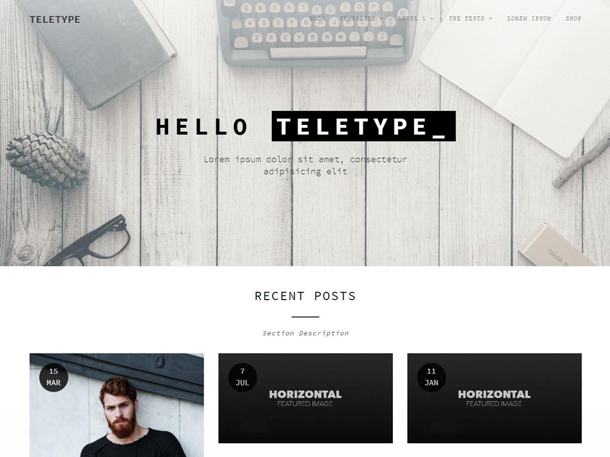 Teletype Download Free Wordpress Theme 1
