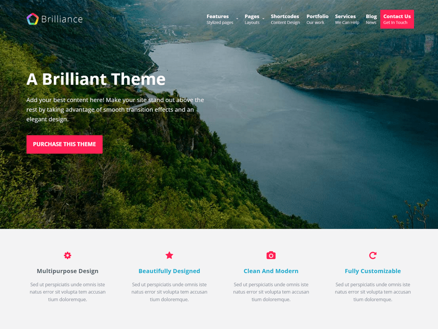 Brilliance Download Free Wordpress Theme 4