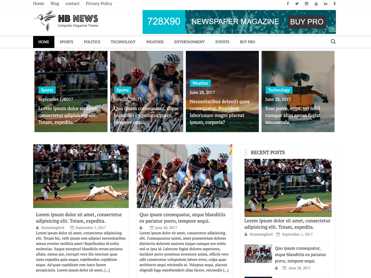 Newspaper Magazine Download Free Wordpress Theme 5