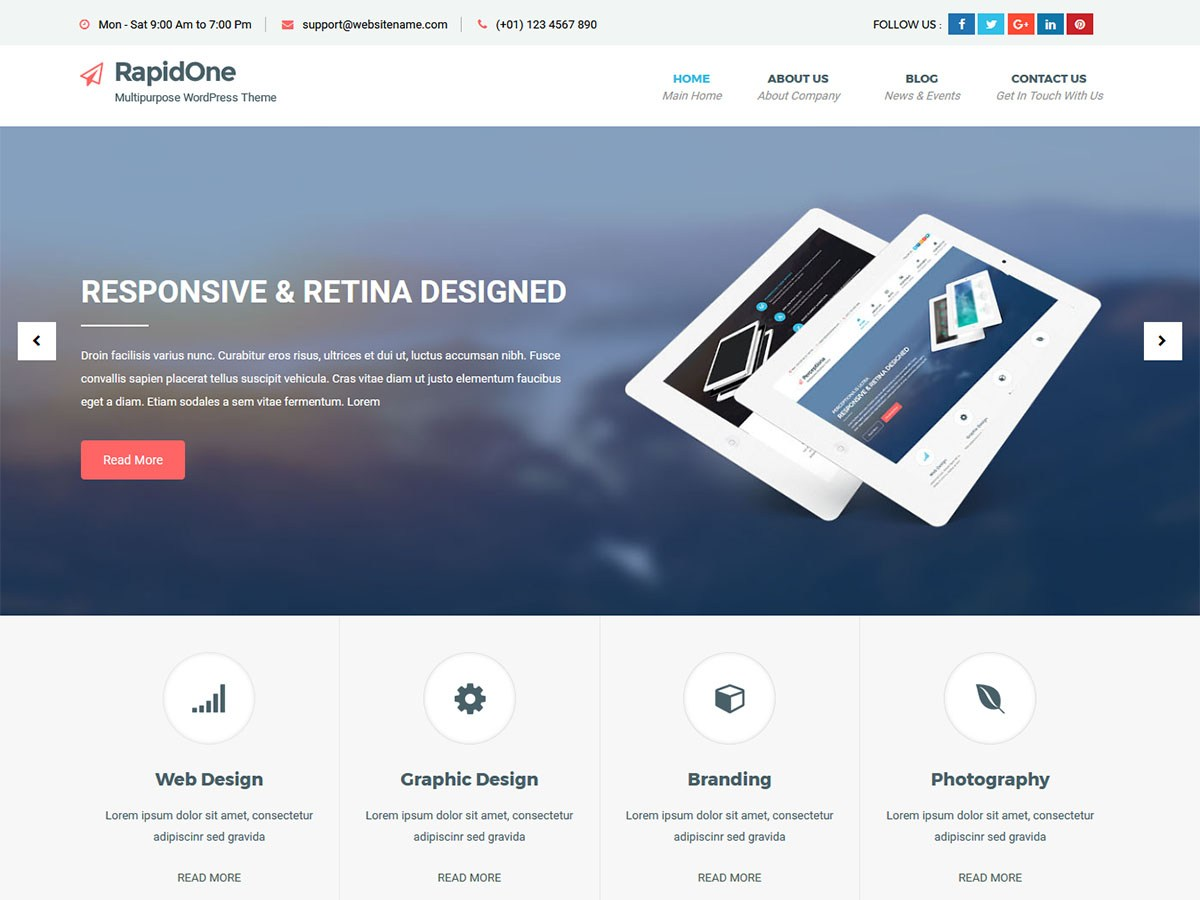 RapidOne lite Download Free Wordpress Theme 5