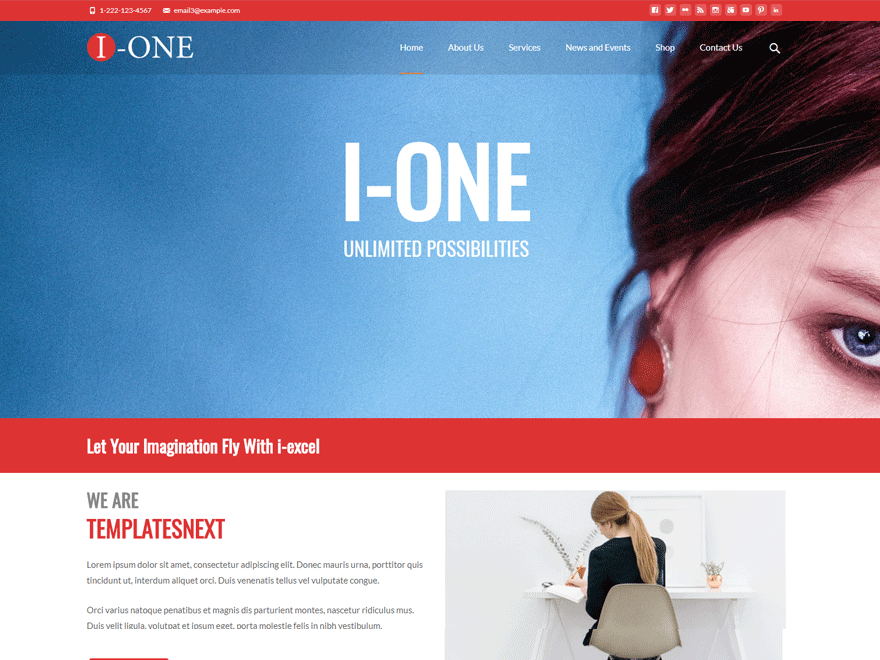 i-one Download Free Wordpress Theme 1