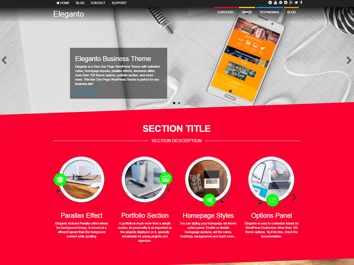 Eleganto Download Free Wordpress Theme 3