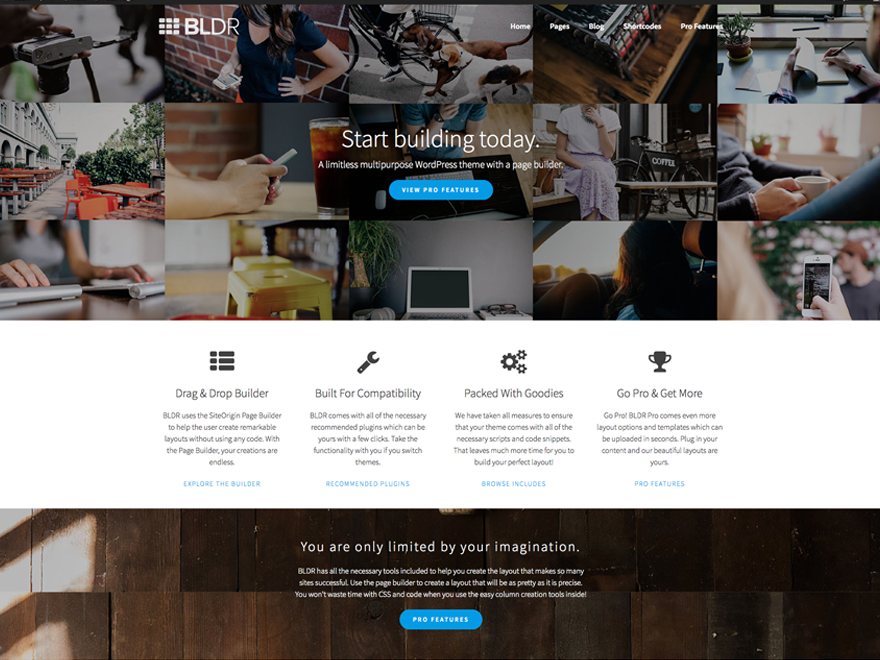BLDR Download Free Wordpress Theme 5
