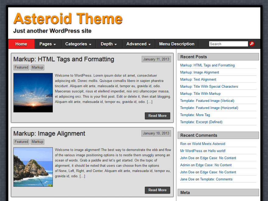 Asteroid Download Free Wordpress Theme 3