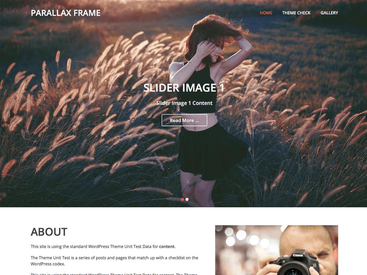 Parallax Frame Download Free Wordpress Theme 1