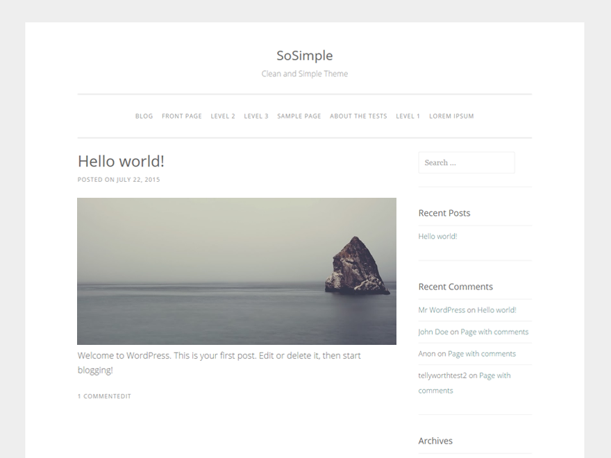 SoSimple Download Free Wordpress Theme 2