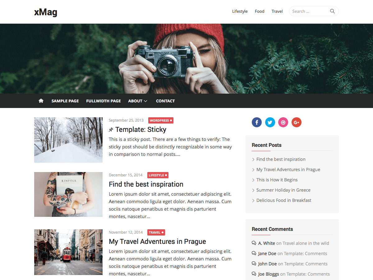 xMag Download Free Wordpress Theme 4