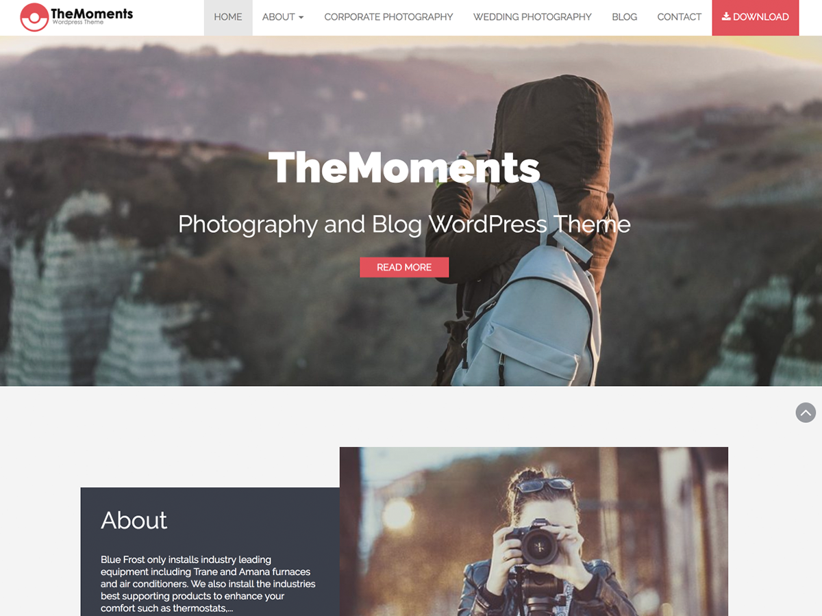 TheMoments Download Free Wordpress Theme 1