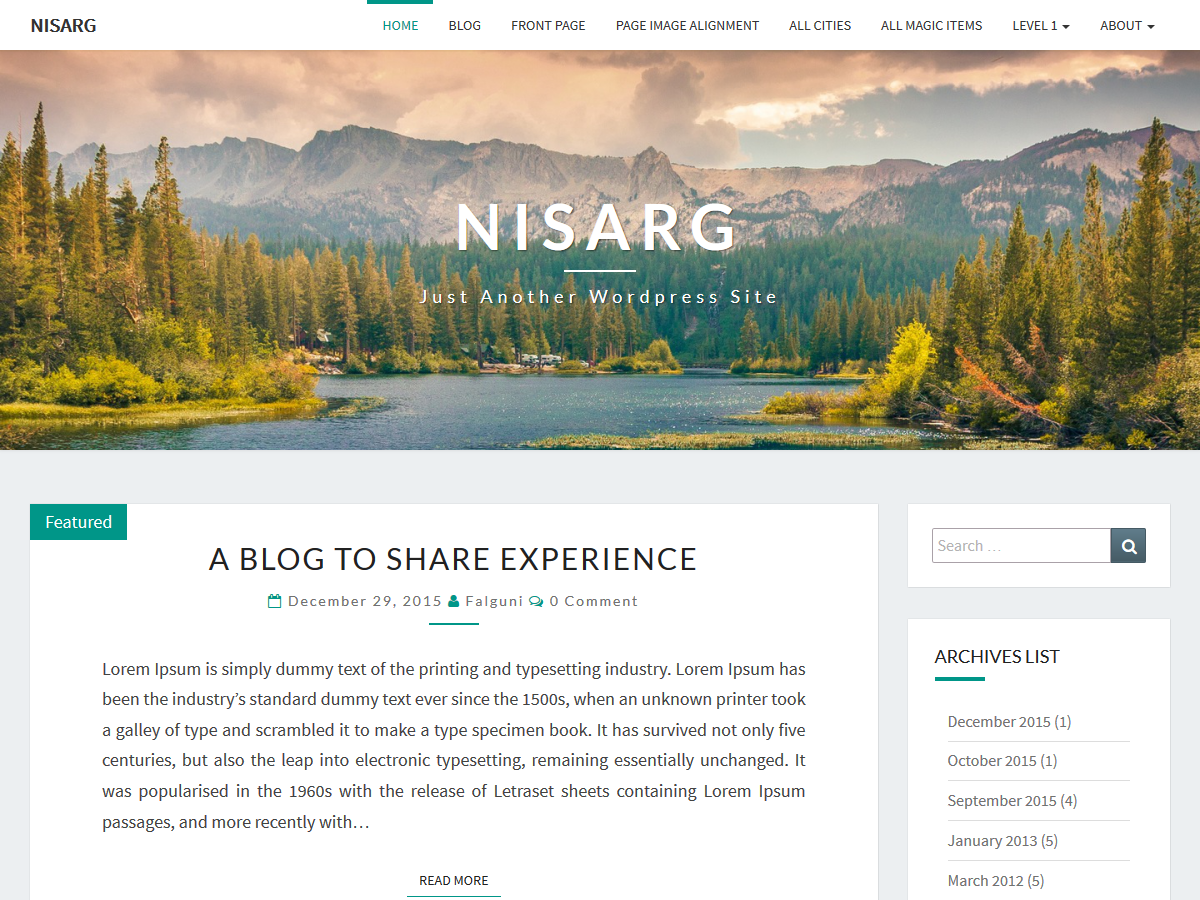 Nisarg Download Free Wordpress Theme 1