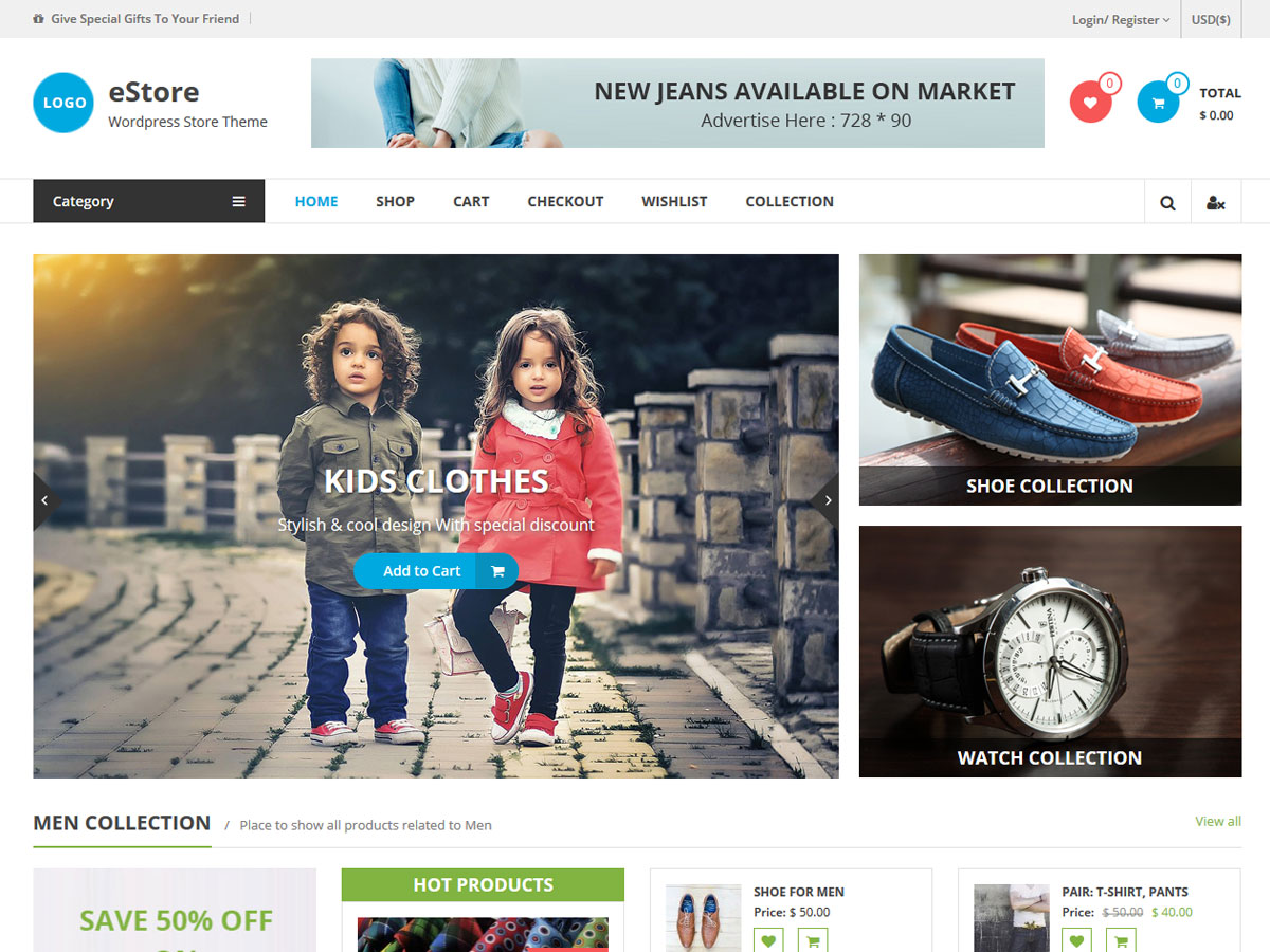 eStore Download Free Wordpress Theme 3