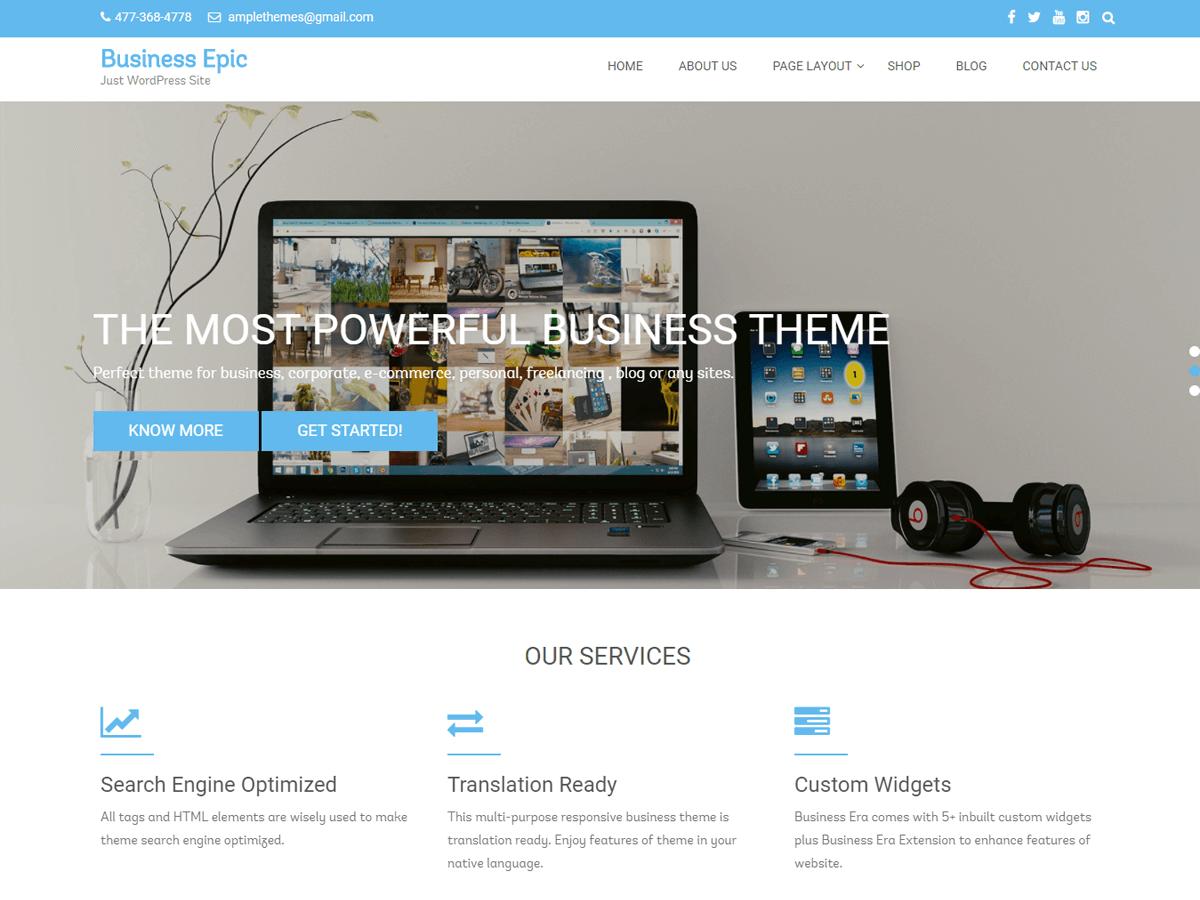 Business Epic Download Free Wordpress Theme 1