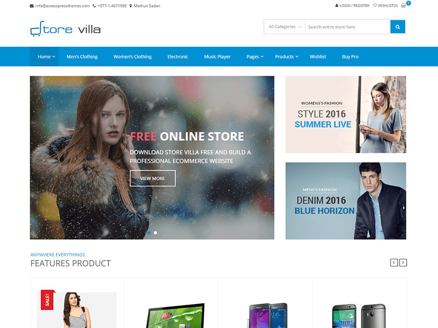 StoreVilla Download Free Wordpress Theme 4