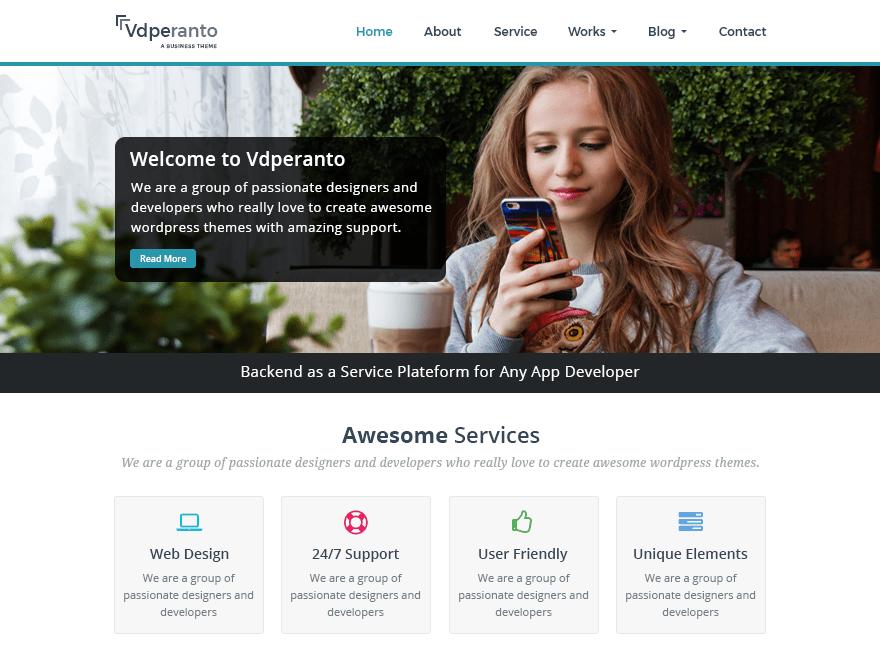 vdPeranto Download Free Wordpress Theme 3