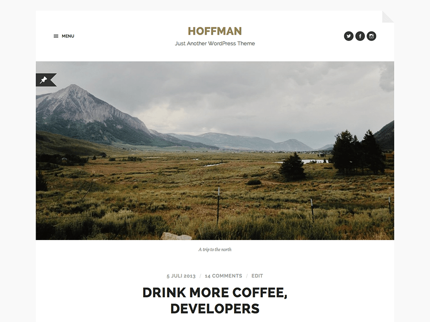 Hoffman Download Free Wordpress Theme 1