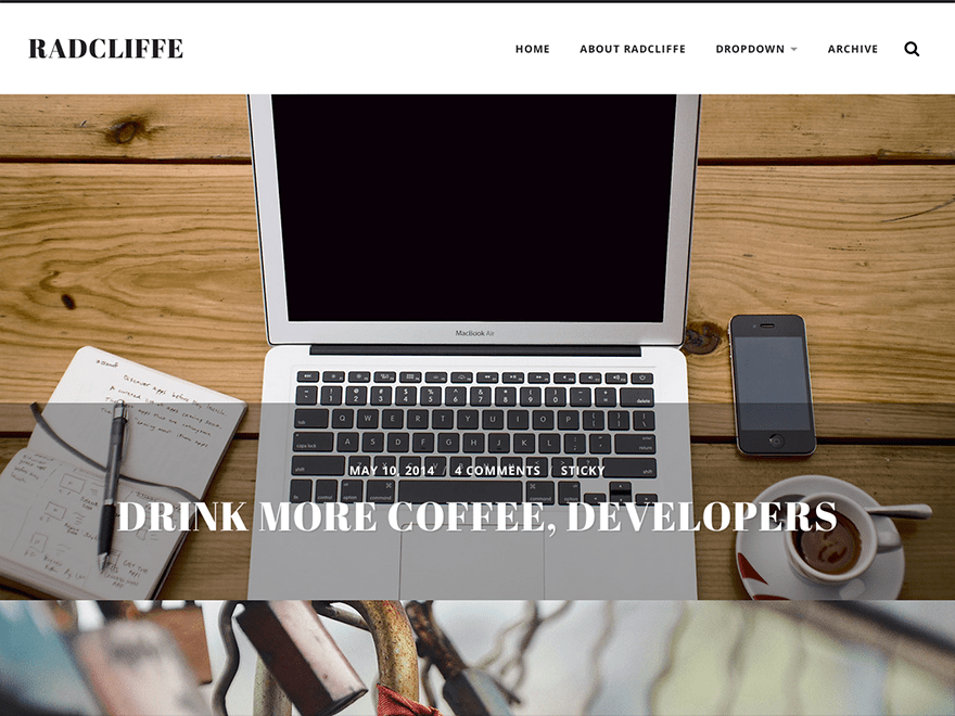 Radcliffe Download Free Wordpress Theme 5