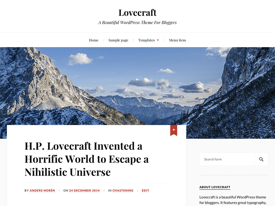 Lovecraft Download Free Wordpress Theme 4