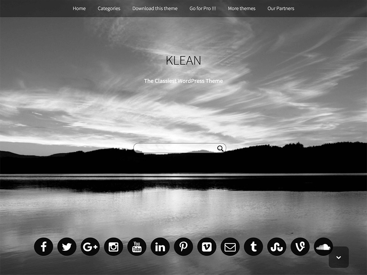 Klean Download Free Wordpress Theme 1