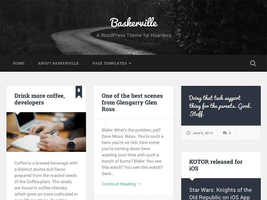 Baskerville Download Free Wordpress Theme 5