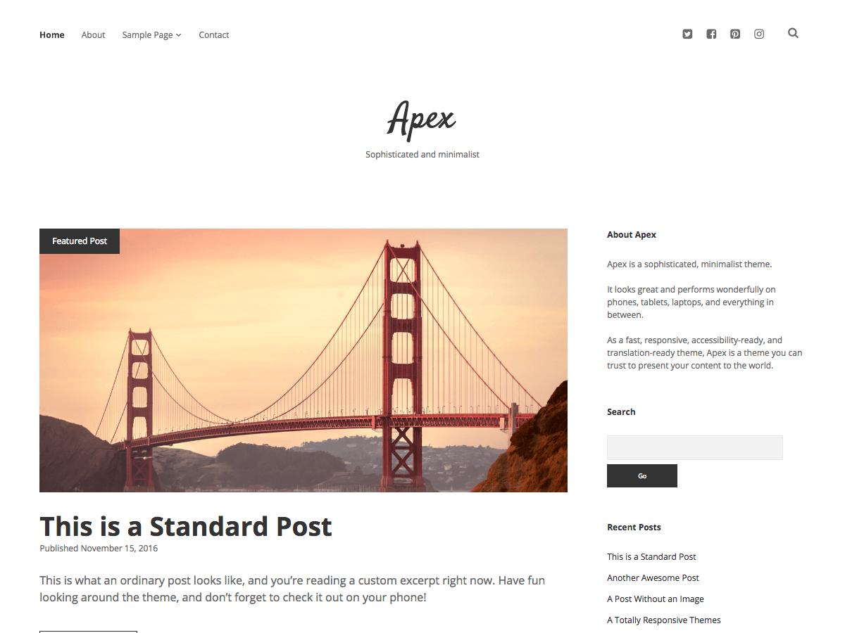 Apex Download Free Wordpress Theme 3