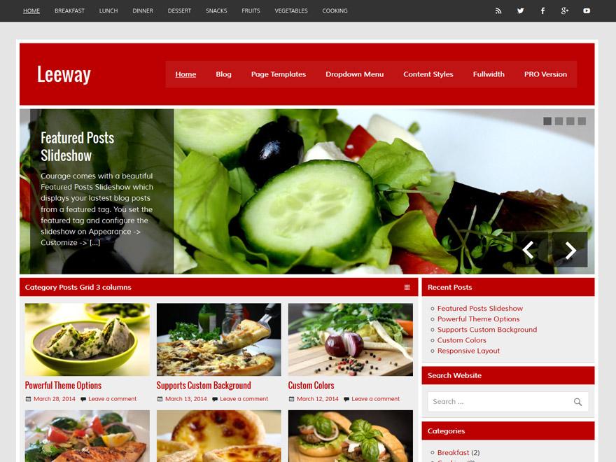 Leeway Download Free Wordpress Theme 4