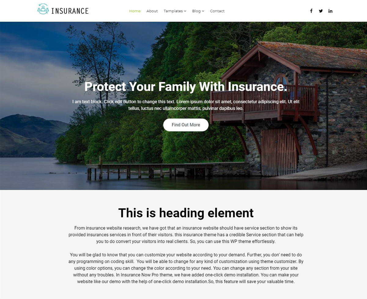 Insurance Now Download Free Wordpress Theme 4
