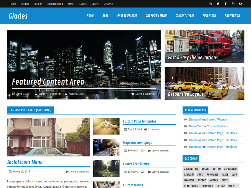 Glades Download Free Wordpress Theme 4