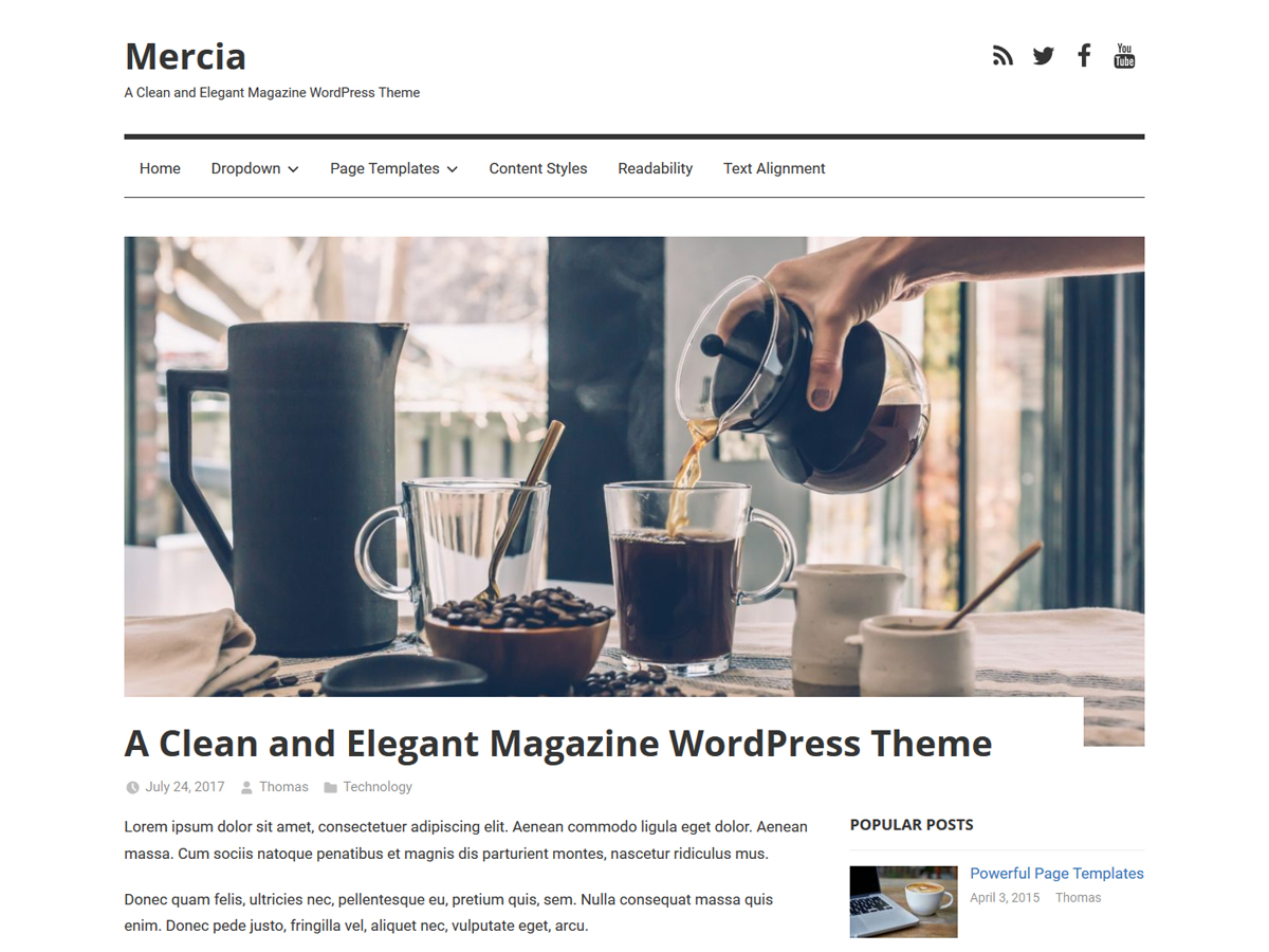 Mercia Download Free Wordpress Theme 2