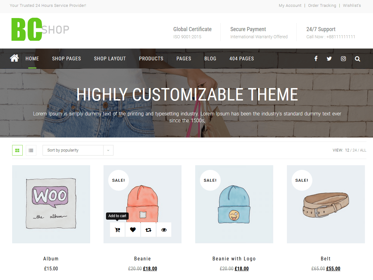 BC Shop Download Free Wordpress Theme 5
