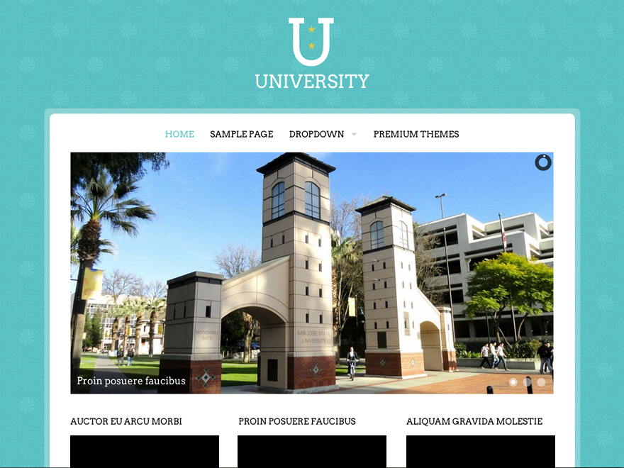 University Download Free Wordpress Theme 1