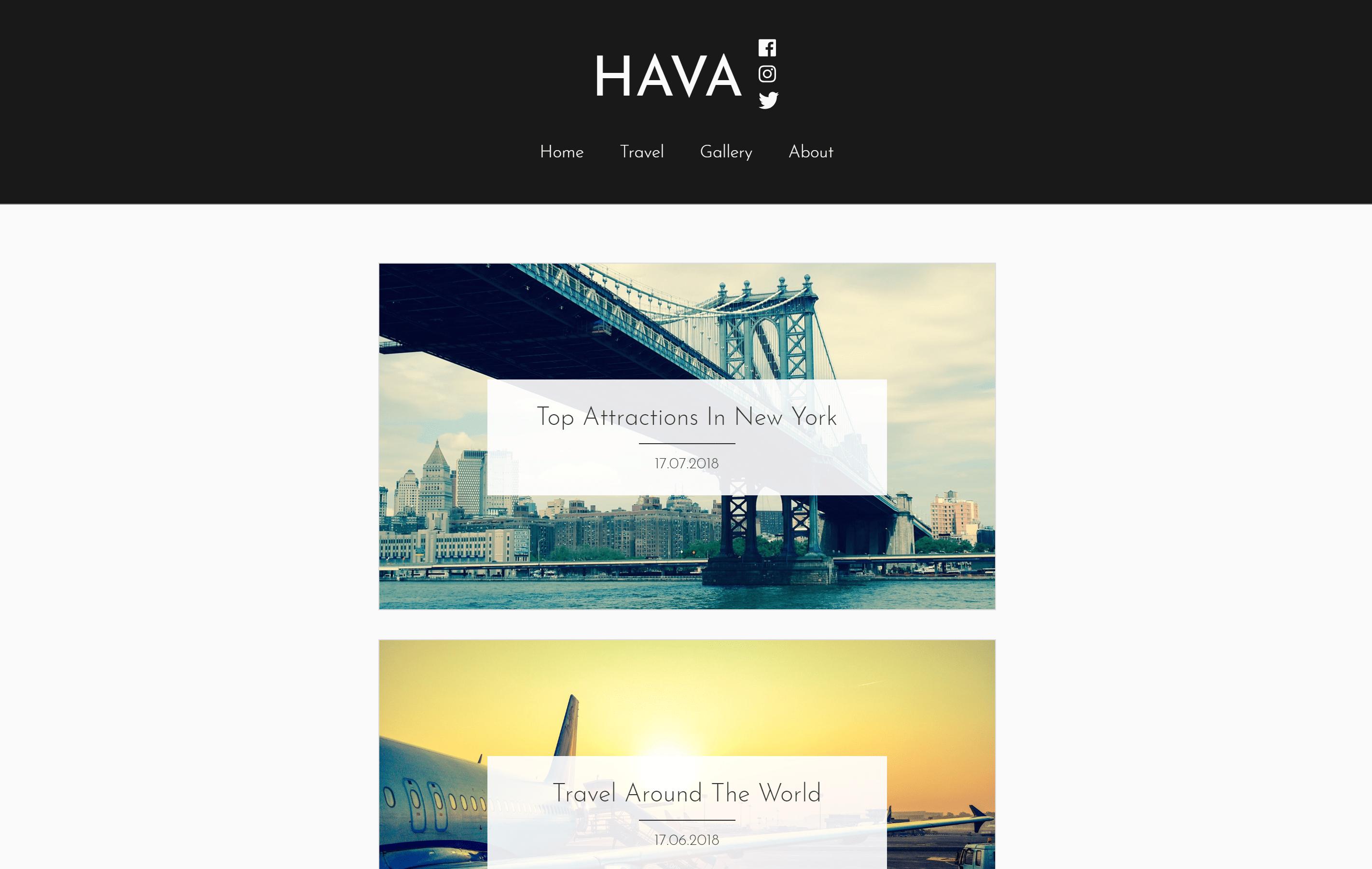Hava Download Free Wordpress Theme 2