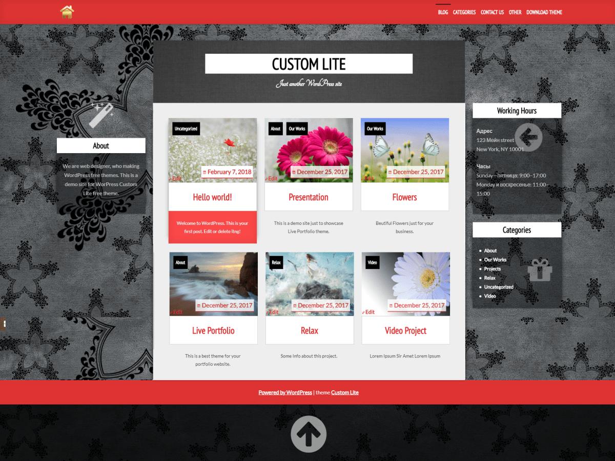 Custom Lite Download Free Wordpress Theme 1