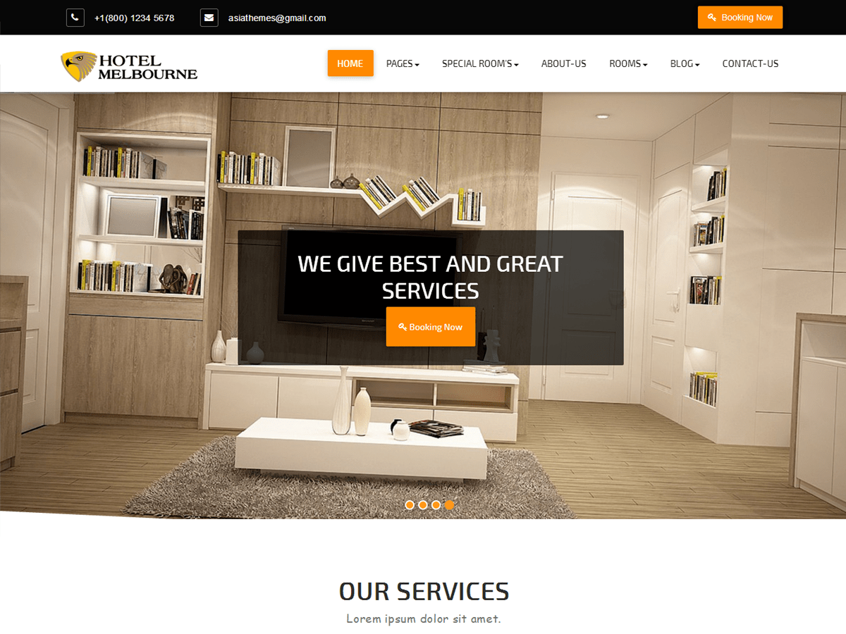 Abacus Hotel Download Free Wordpress Theme 1