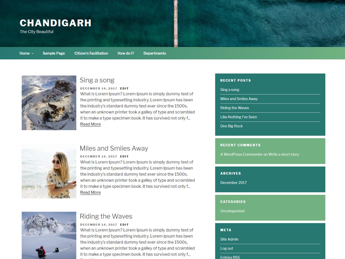 Chandigarh Download Free Wordpress Theme 4