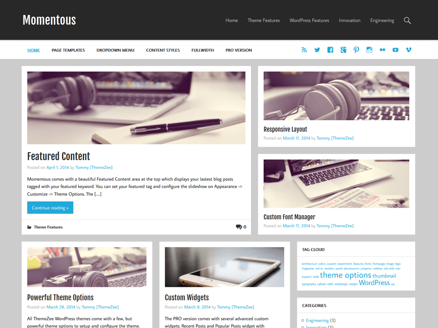 Momentous Lite Download Free Wordpress Theme 1