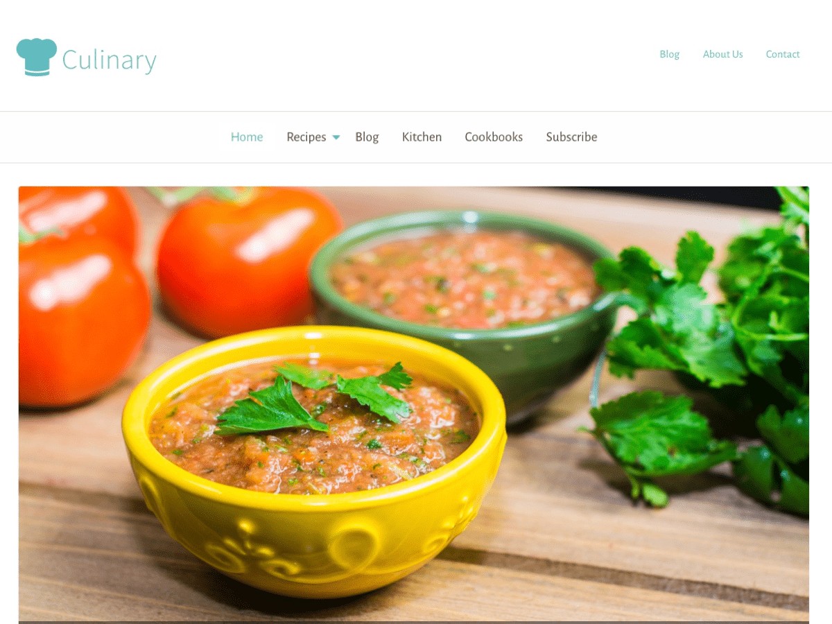 Culinary Download Free Wordpress Theme 4