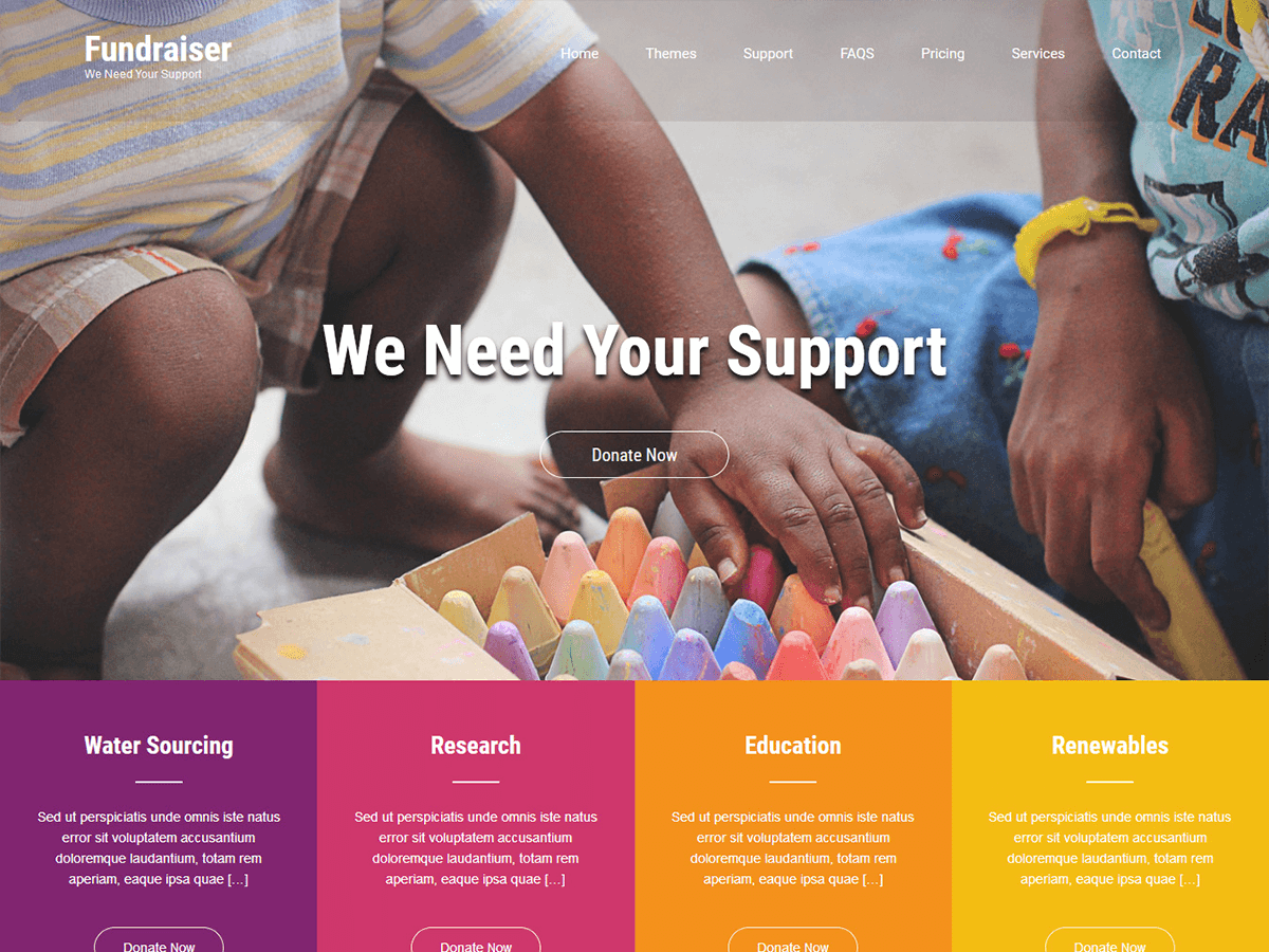 Fundraiser Lite Download Free Wordpress Theme 3