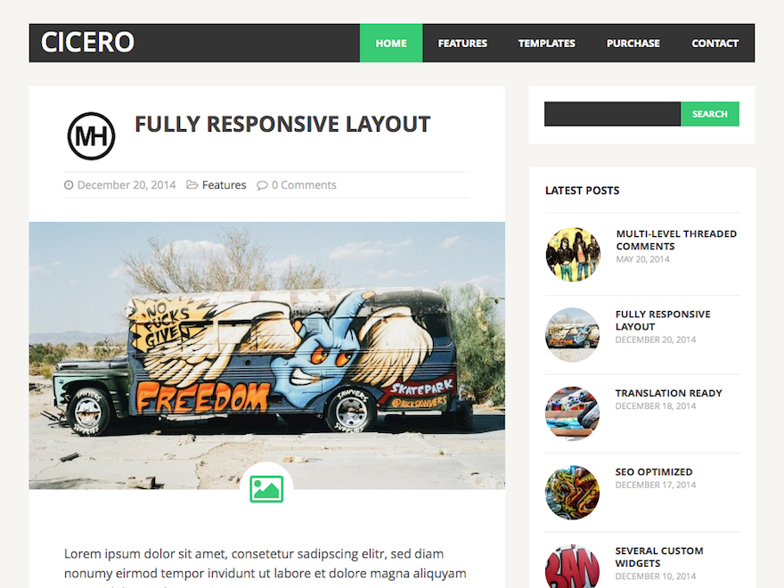 MH Cicero lite Download Free Wordpress Theme 2