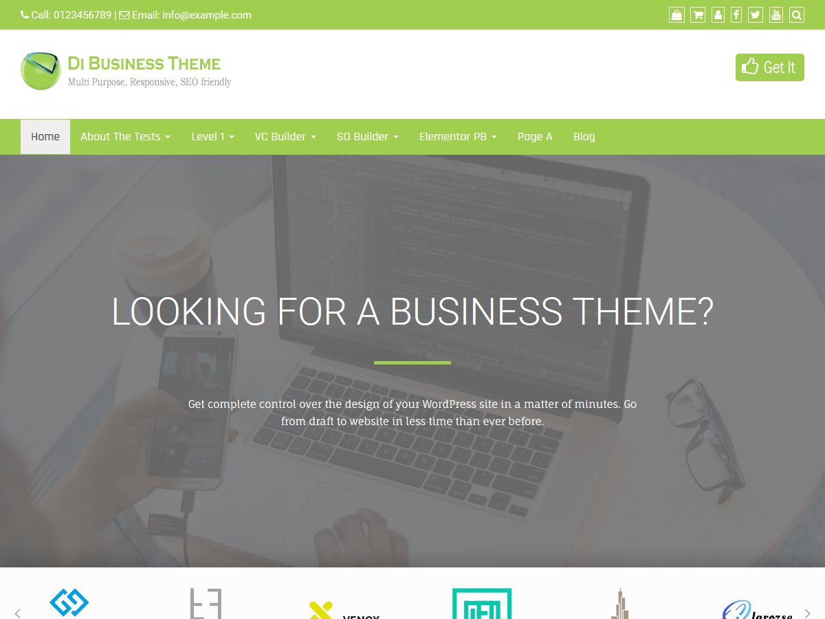 Di Business Download Free Wordpress Theme 2