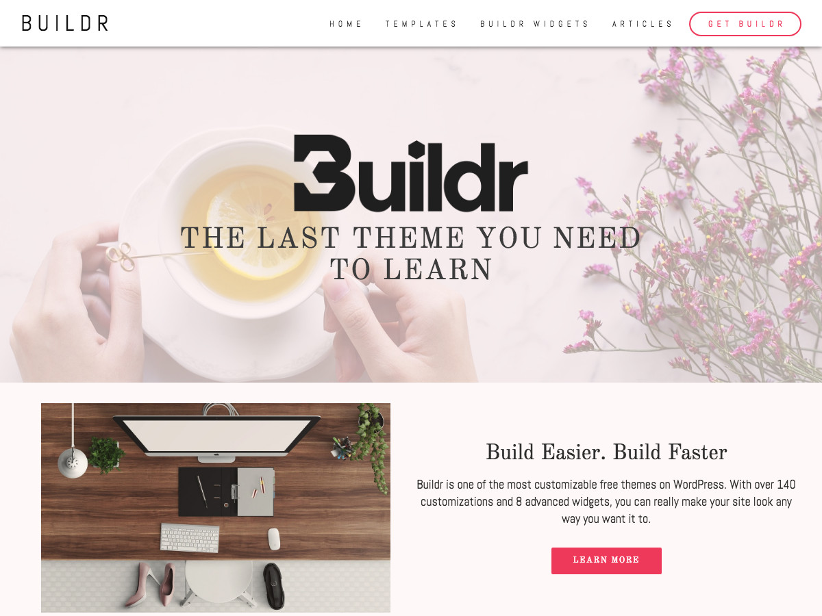 Buildr Download Free WordPress Theme