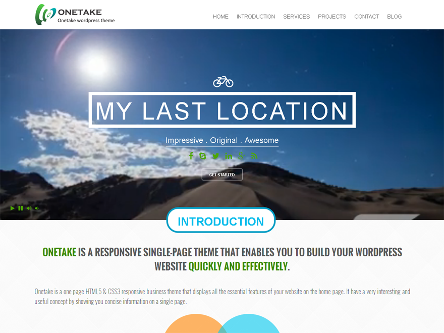 Onetake Download Free Wordpress Theme 2