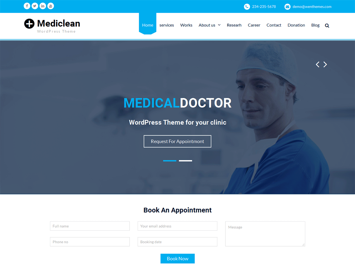 Mediclean Download Free Wordpress Theme 4