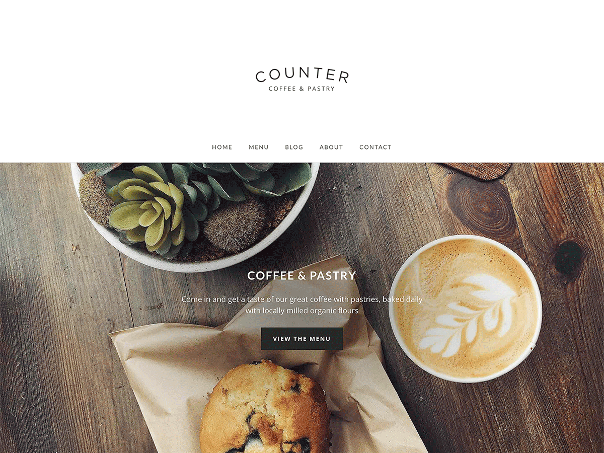 Counter Download Free Wordpress Theme 1