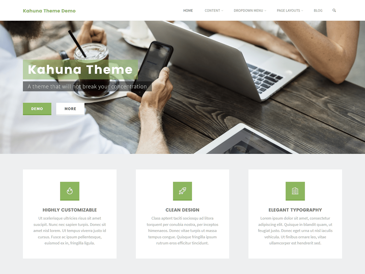 Kahuna Download Free Wordpress Theme 2