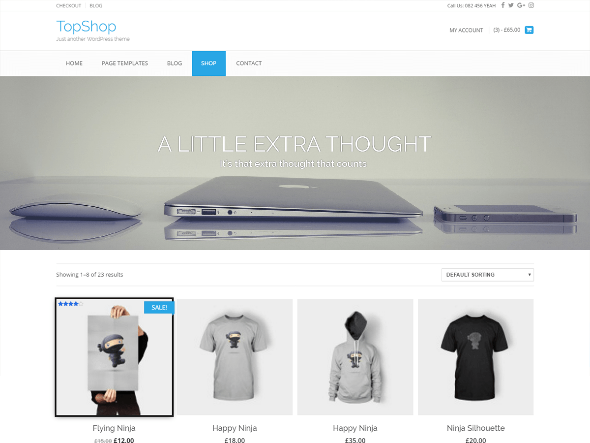 TopShop Download Free Wordpress Theme 1