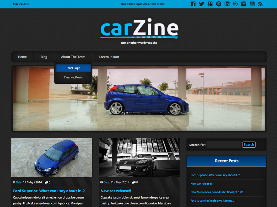 CarZine Download Free Wordpress Theme 2