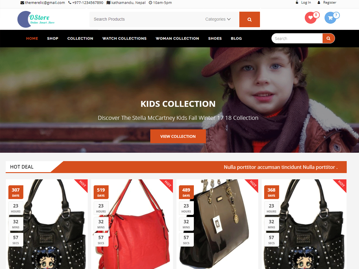 oStore Download Free Wordpress Theme 5